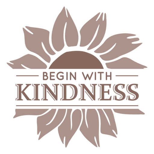 Sunflower kindness badge Transparent PNG