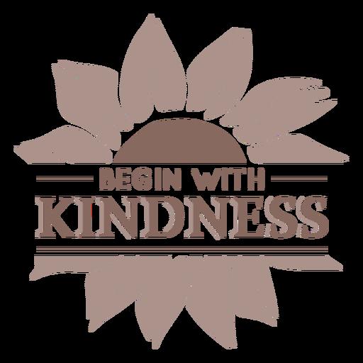 Sunflower kindness badge