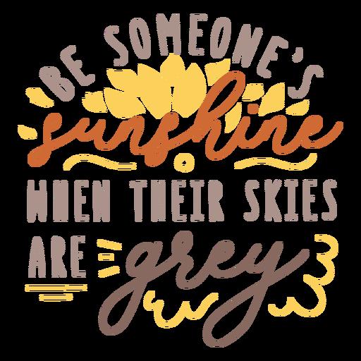 Sunshine motivational quote badge  Transparent PNG
