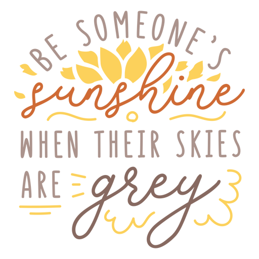 Sunshine motivational quote badge