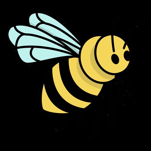 Flying color stroke honey bee