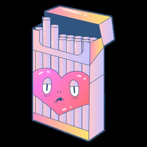 Heart in cigarrete box