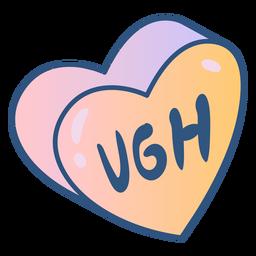 Heart message anti valentine