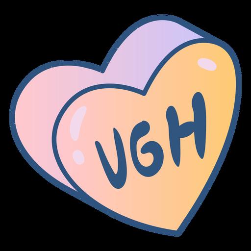 Mensaje de corazón anti San Valentín