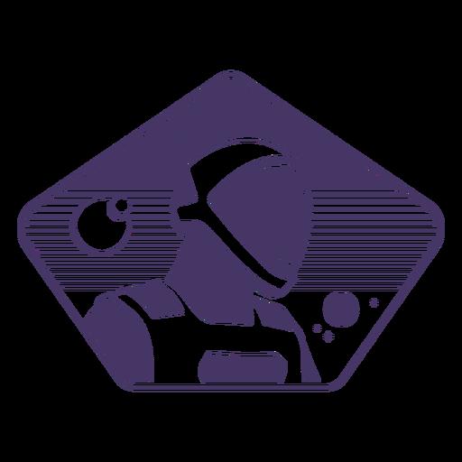 Astronaut space badge
