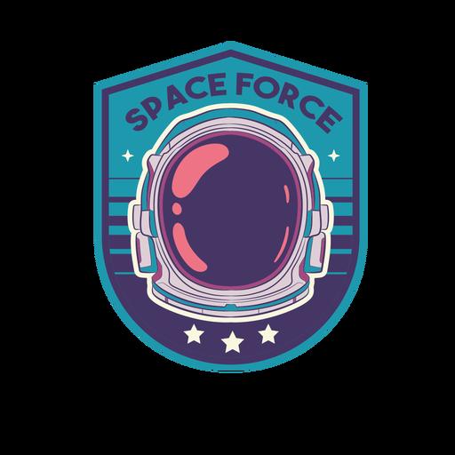 Colorful astronaut helmet badge