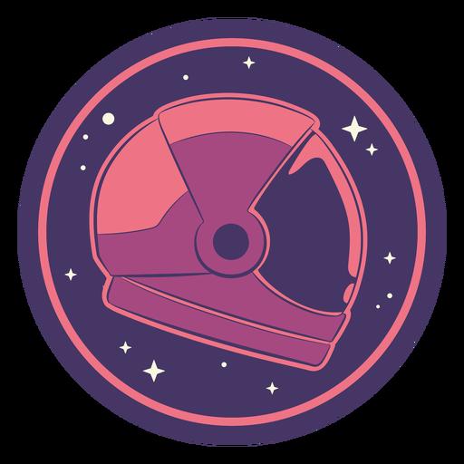 Distintivo de capacete de astronauta espacial