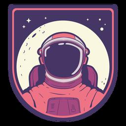 Astronaut head with moon badge