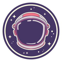 Space helmet badge design