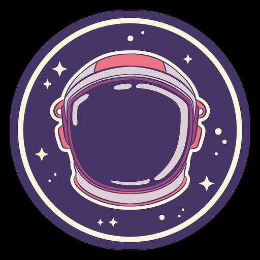 Projeto do emblema do capacete espacial
