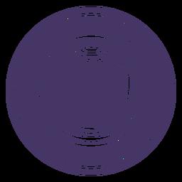 Insignia redonda de casco de astronauta