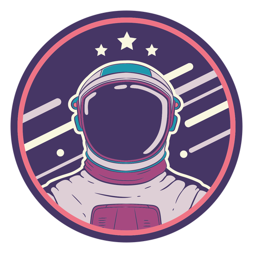 Space astronaut badge