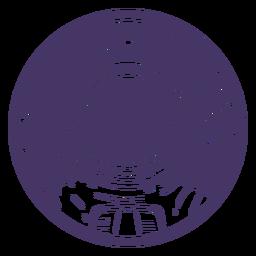Insignia de astronauta espacial recortada