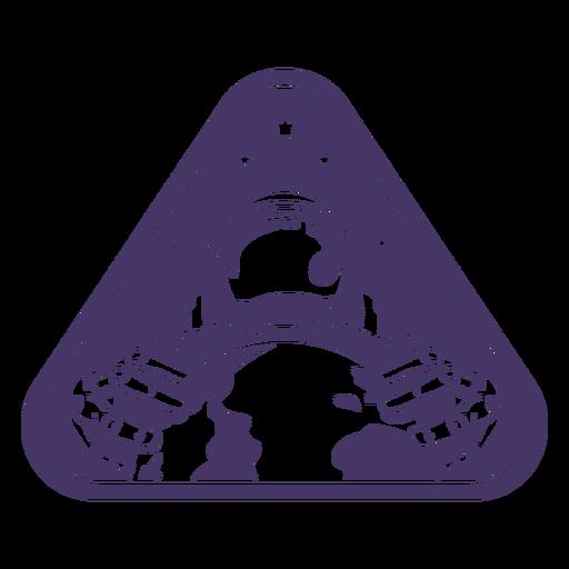 Astronaut holding earth badge
