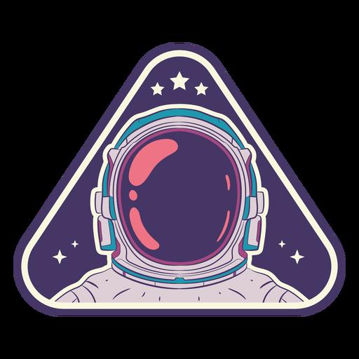 Astronaut space helmet badge