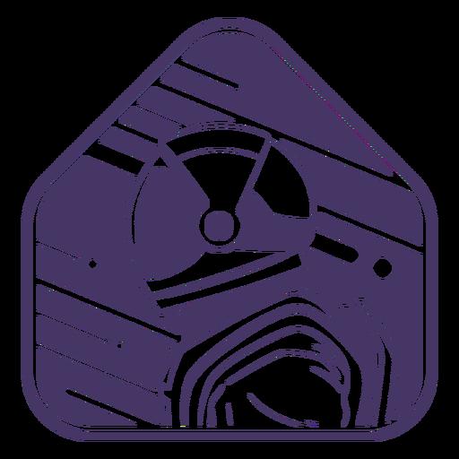 Space astronaut duotone badge