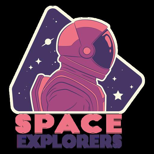 Space astronaut quote badge