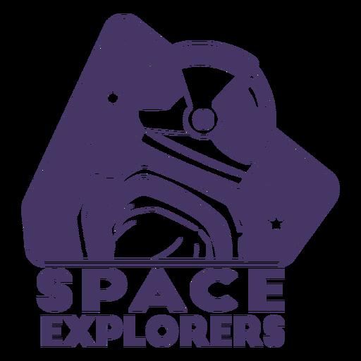 Space explorers astronaut helmet badge
