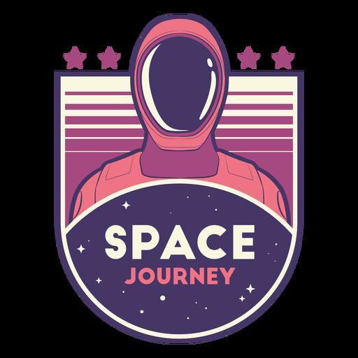 Astronaut head space journey badge