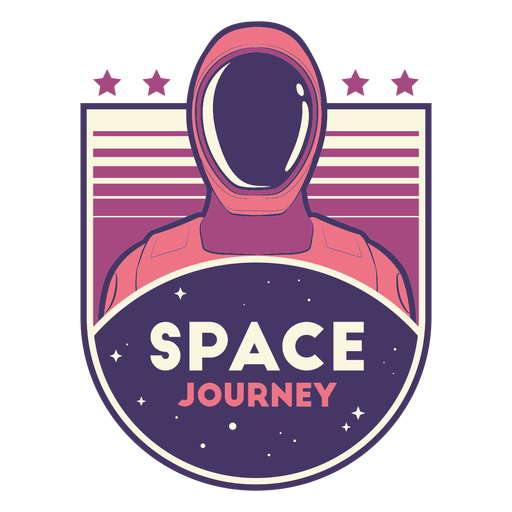 Crachá de viagem espacial do astronauta