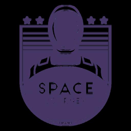 Astronaut space journey badge