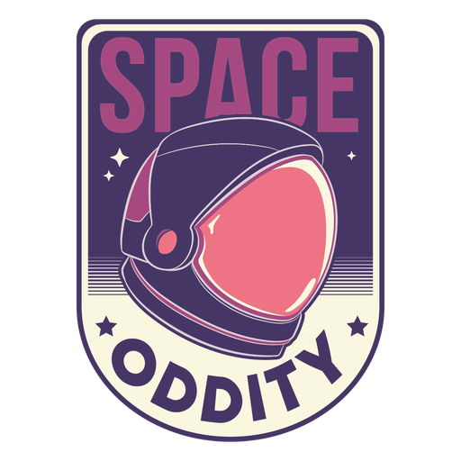 Space astronaut helmet badge