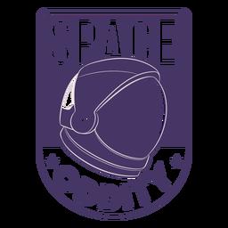 Insignia de casco de astronauta de rareza espacial