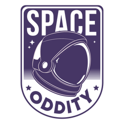 Space oddity astronaut helmet badge
