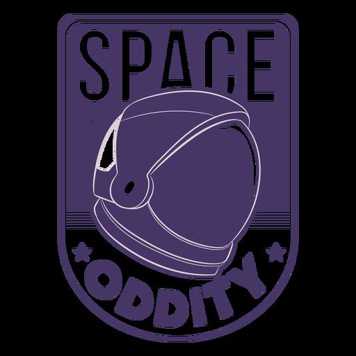 Crachá de capacete de astronauta de estranheza espacial