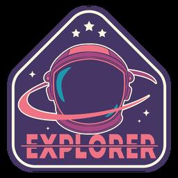 Emblema de astronauta explorador
