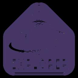 Emblema de explorador de capacete de astronauta