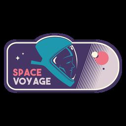 Crachá de capacete de astronauta de viagem espacial