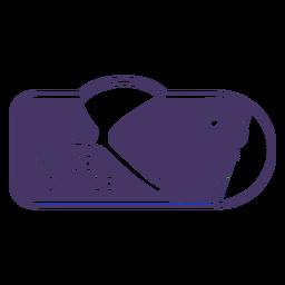 Insignia de trazo lleno de astronauta del viaje espacial