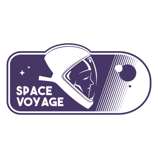 Space voyage astronaut filled stroke badge