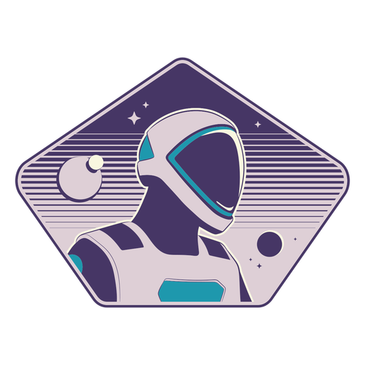 Crachá de cabeça de astronauta futurista
