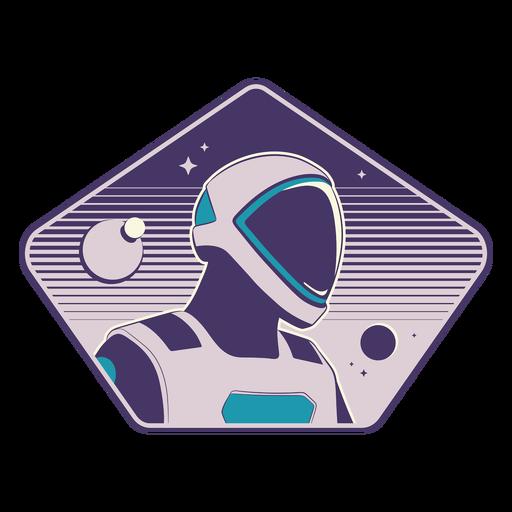 Futuristisches Astronautenkopfabzeichen