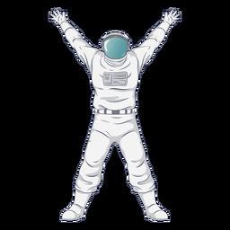 Astronauta de braços semiaberto