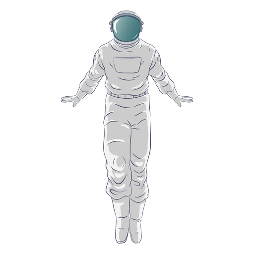 Standing floating astronaut character