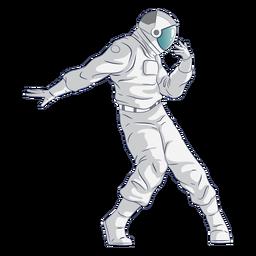 Carácter de astronauta bailando
