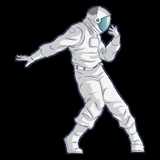 Tanzender Astronautencharakter