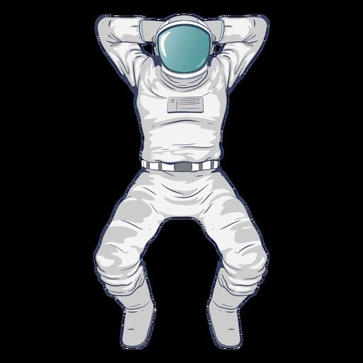 Astronaut, der Charakter abschreckt