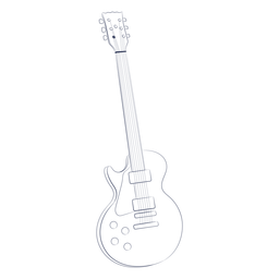 Guitar accoustic hand-drawn