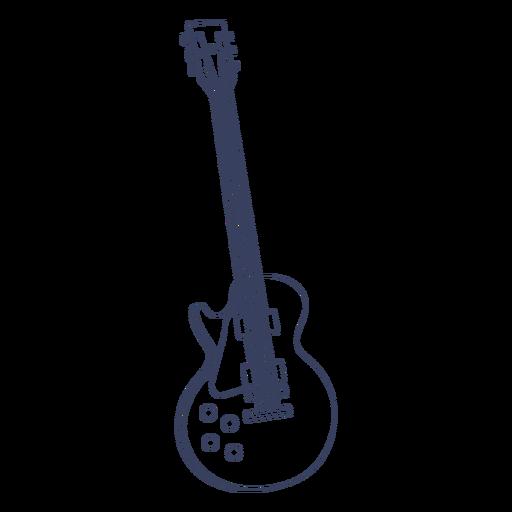 Guitarra ac?stica dibujada a mano.