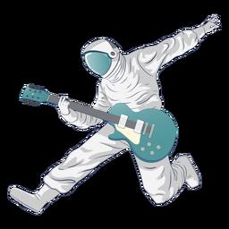 Astronaut rockstar character