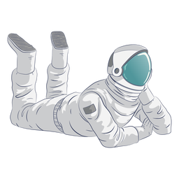 Astronaut relaxing character
