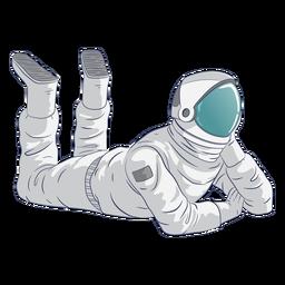 Carácter relajante astronauta