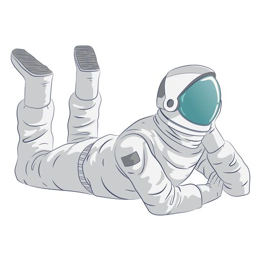Astronaut relaxing character Transparent PNG