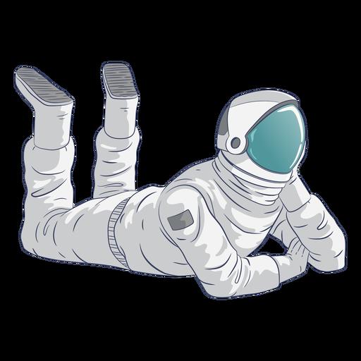 Astronaut relaxing character