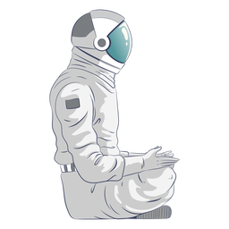 Astronaut sitting character