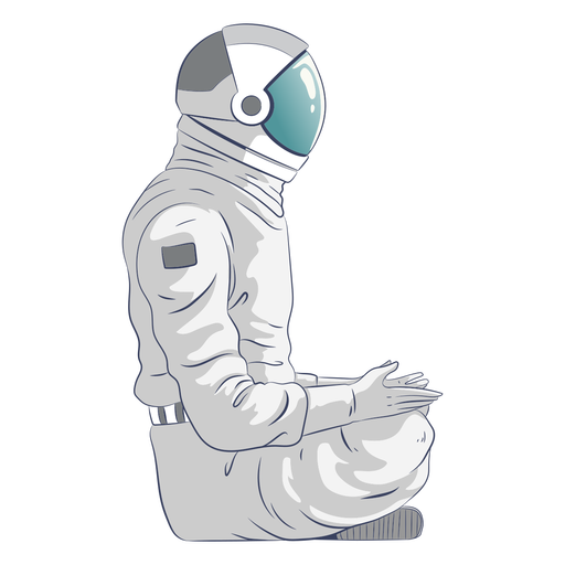 Astronaut sitting character Transparent PNG